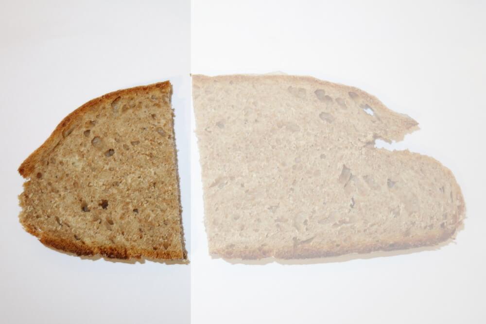 Eine Scheibe Brot Gramm